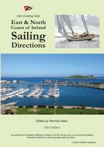 Cover graphic of the East & North Sailing Directions Irish Cruising Club